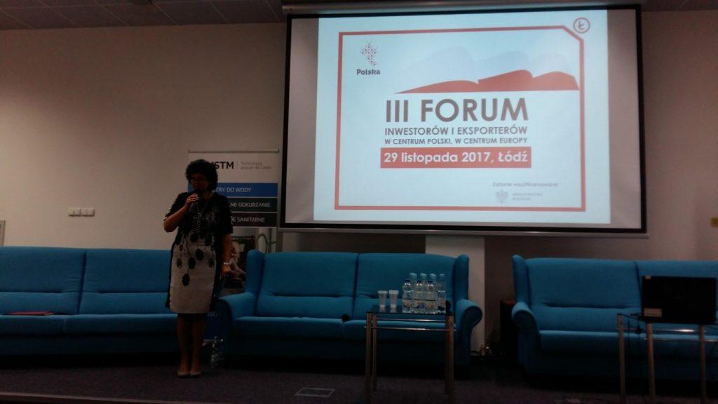 Listopad 2017: prowadzenie panelu ŁIPH w ramach III Forum Inwestorów i Eksporterów